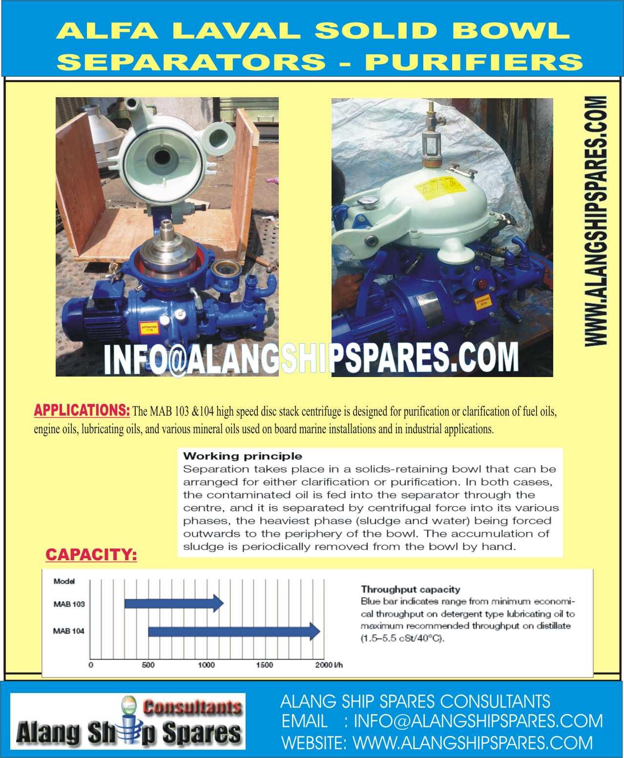 For Sale: Alfa Laval Disc Centrifuge, Industrial centrifuge