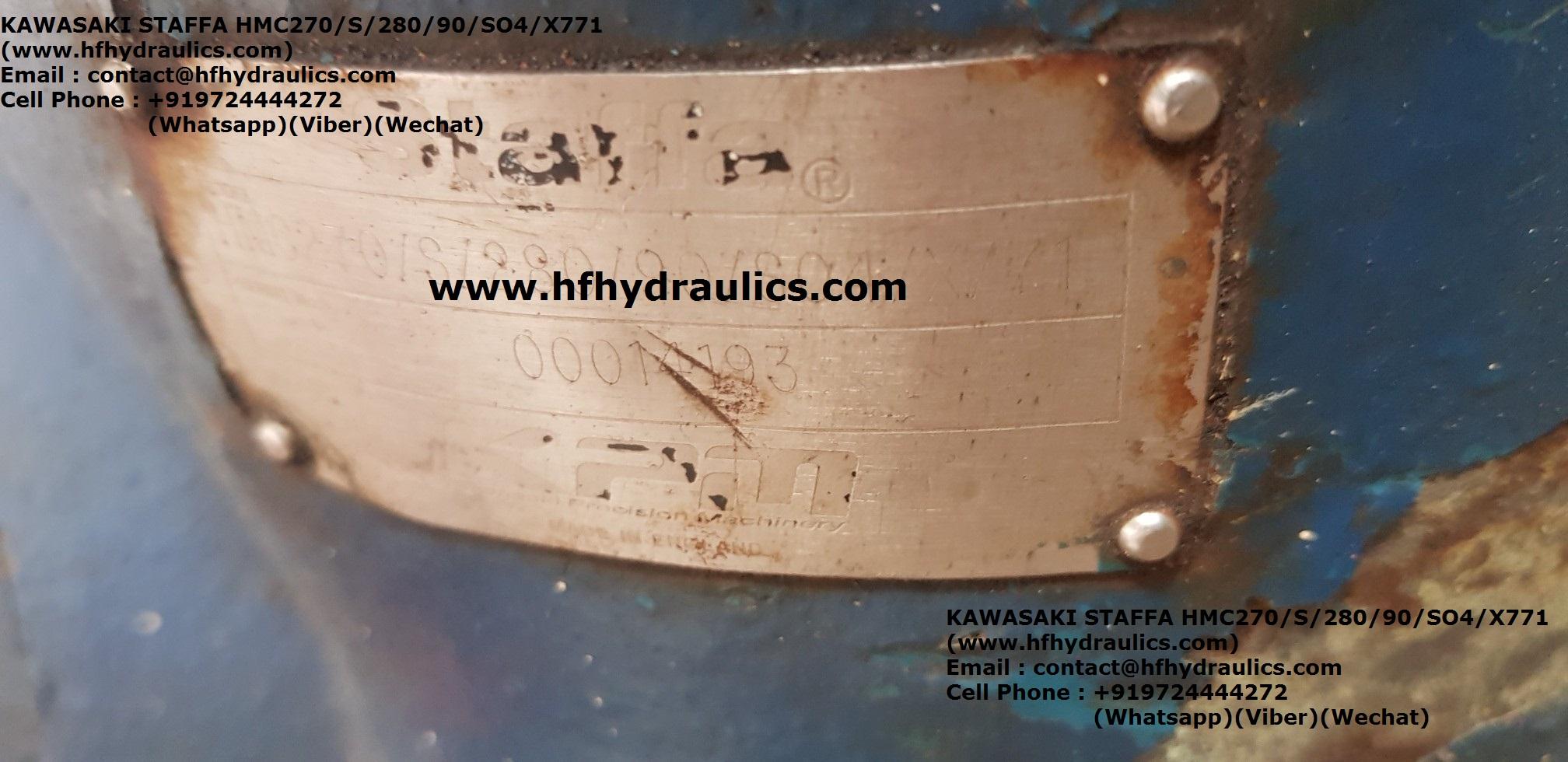 KAWASAKI STAFFA HMC270/S/280/90/SO4 MODEL WINCH HYDRAULIC MOTOR (HF HYDRAULICS, INDIA)