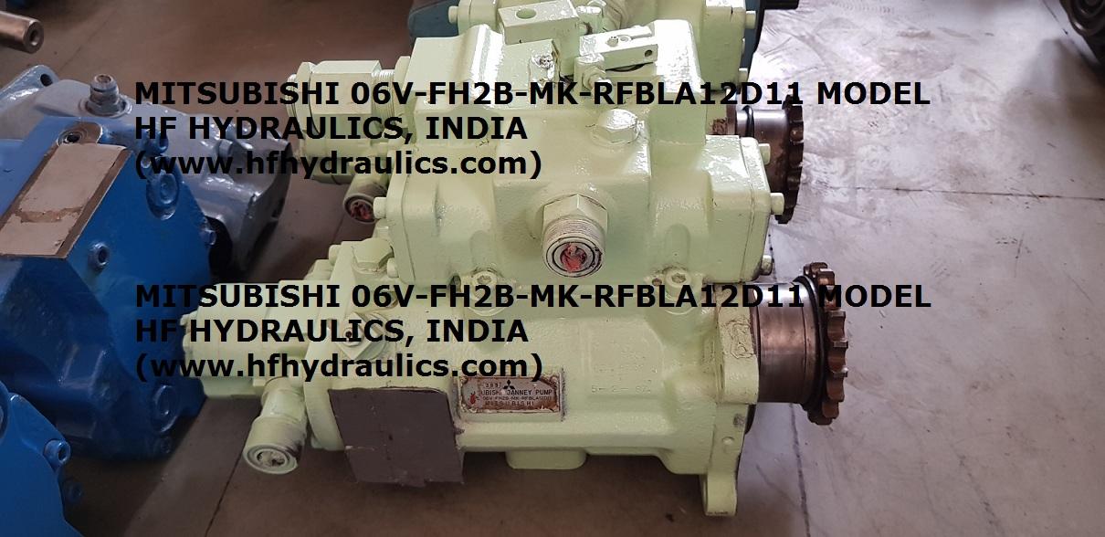 MITSUBISHI JANNEY PUMP 06V-FH2B-MK-RFBLA12D11 MODEL (HF HYDRAULICS, INDIA)