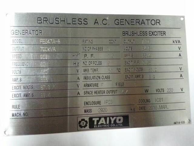 Yanmar 6EY18AL generator set available